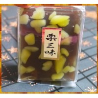 日本愛知縣原裝-名牌燕舟三味羊羹100g裝