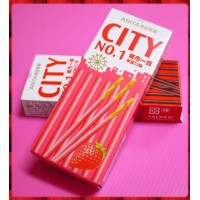 正宗-CITY城市一族草莓餅乾棒25g盒裝
