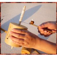 絕版童玩-嗡嗡叫手拉式陀螺(大顆)
