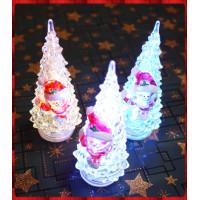 14公分高迷你聖誕老公公閃光聖誕樹-內含電池