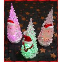 19公分高加寬版聖誕老公公閃光聖誕樹-內含電池