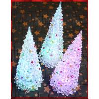 27公分高加寬版閃光聖誕樹-內含電池