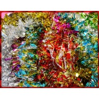 200公分長一條的聖誕彩條寬與細雙葉款12條裝
