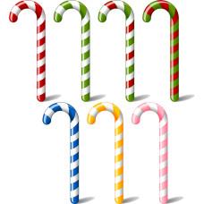 可指定顏色9公分長度的不含棍子聖誕拐杖糖加粗版(台灣製)-300支裝
