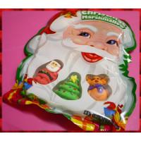 6公分長無棍子整顆都是棉花糖的糖霜聖誕應景棉花糖(8顆都不一樣豪華包裝款)