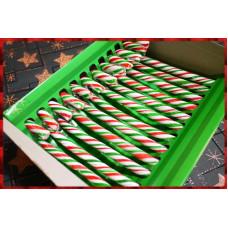 百貨公司上架款紅綠白三色拐杖糖一盒12隻裝