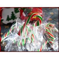 旗艦品質台灣製造-紅白綠耶誕三色柺杖糖,拐杖糖單隻裝9公分全長