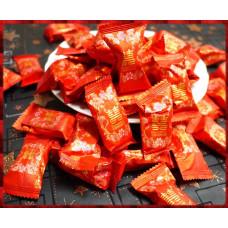 砂金材質的燙金包裝大方形水蜜桃風味軟糖喜糖(一台斤裝)