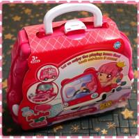 20件式的手提包包型攜帶美髮家家酒玩具組