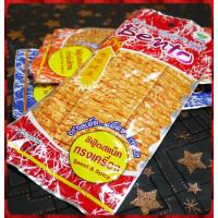 就是辣的泰國原裝的泰式碳烤麻辣香魷片-大辣
