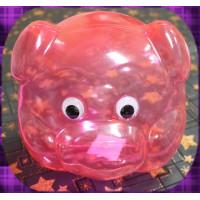 粉紅豬頭撲滿(1000cc容量)亮彩塑膠材質台灣製造-立體眼睛