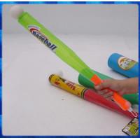 55公分長的透明棒球棒含一顆塑膠球-握把質感提升