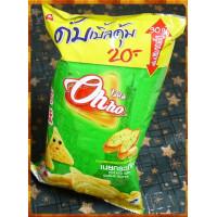 泰國原裝恐龍OHHO三角玉米片大蒜奶油味