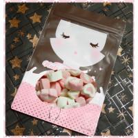 A級3公分粉紅愛心棉花糖小包裝