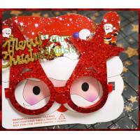聖誕專用的造型大眼鏡-亮晶晶材質大人小孩都可用喔耐用款