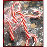 聖誕紅白柺杖糖,拐杖糖單隻裝9公分全長