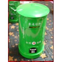 聖誕主題台灣通儲復古郵筒(存錢筒)綠色款中