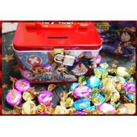 聖誕海賊王主題的手提式藏寶箱(可上鎖)並加上380g的歐式果仁太妃糖亮面袋