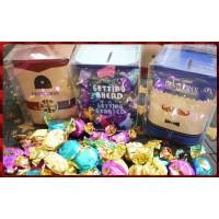 英國風主題的彩繪印刷方形小物盒並加上150g的歐式果仁太妃糖亮面袋