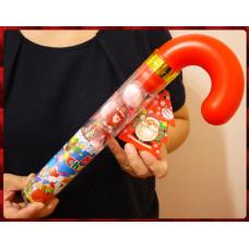 35公分長大隻款聖誕柺杖糖造型綜合糖果餅乾組