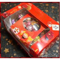 真的貴但絕對滿意來自義大利的經典巧克力加水晶般頂級透明元寶盒禮盒包裝款含專用提袋