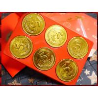 大發財6顆裝超氣派的金幣巧克力含紅包袋