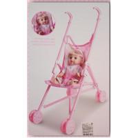 真的可以推的女孩兒嬰兒車玩具組(可收納)