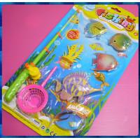 大型手動式水晶釣魚玩具含網子組