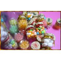 真玻璃瓶裝糖果60瓶裝-星星糖,脆皮愛心糖,迷你彩蛋糖
