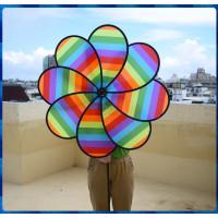 營業場所專用特大100公分直徑8片式立體彩虹風車