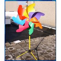 營業場所專用特大落地式含底座180公分直徑7片式立體彩色風車