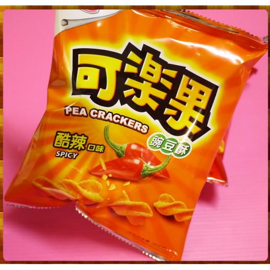 10元賣可樂果豌豆酥酷辣口味(24包一箱裝)