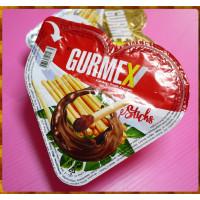 GURMEX愛心盒造型的烤餅乾加巧克力奶油拌醬約40g一組