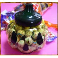 超逼真的南瓜罐子裝入眼球巧克力500g裝