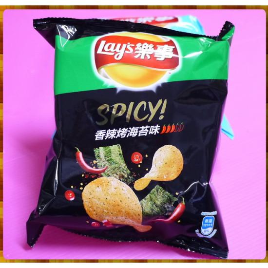 25元賣Lay's樂事spicy香辣烤海苔味洋芋片(單包報價)
