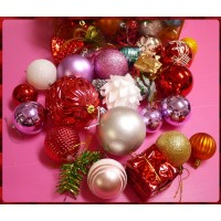 專門用於聖誕節裝飾用的各式小物包(如圖款出)-綜合配件大包款