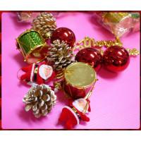 專門用於聖誕節裝飾用的各式小物包(如圖款出)-中型綜合配件包