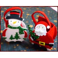 超級可愛的聖誕主題提袋-約350cc容量-全絨棉材質-單個