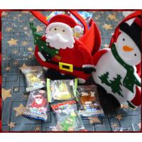 超級可愛的聖誕主題提袋裝入5顆的一顆一包裝聖誕主題彩色橡皮糖