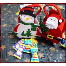 超級可愛的聖誕主題提袋裝入5顆的爆醬軟糖