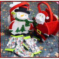 超級可愛的聖誕主題提袋裝入10隻7公分柺杖糖