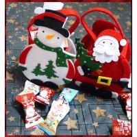 超級可愛的聖誕主題提袋裝入5顆法國風聖誕軟糖