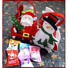 超級可愛的聖誕主題提袋裝入5顆聖誕節主題果醬夾心烤餅乾