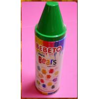 土耳其原裝蠟筆彩虹熊熊軟糖200g加上蠟筆形存錢筒