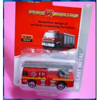 1:64完整封裝款高空消防車模型回力車