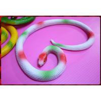 觸感逼真的讓您再大膽也會怕怕的擬真蟒蛇50公分長-白蛇