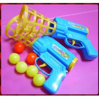 大人可用的槍型雙人組強力彈射安全拋接球玩具