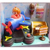 全組可拆解再重組的DIY玩具組-遊樂園主題的旋轉飛機加上藏寶箱