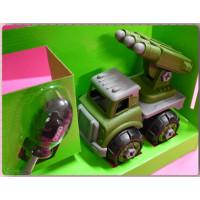 全組可拆解再重組的DIY玩具組-行動火箭砲戰車禮盒款