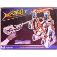 超酷的海綿砲彈槍加上旋轉標靶組可兩人一起玩喔-禮盒款裝